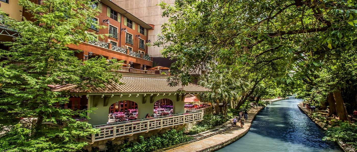 The beautiful Hotel Valencia Riverwalk in San Antonio, TX.