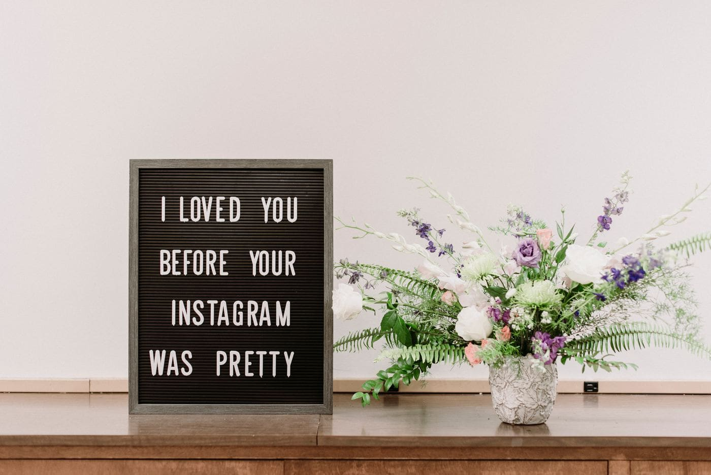 Follow people you love on Instagram, even before their content is pretty.